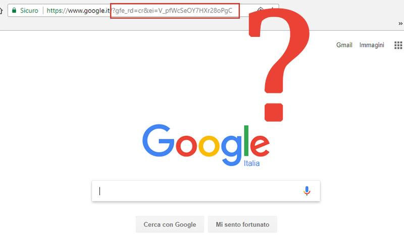 Cosa significano quei codici ?gfe_rd=cr&ei= e ?gws_rd=ssl attaccati all'indirizzo di Google.it?